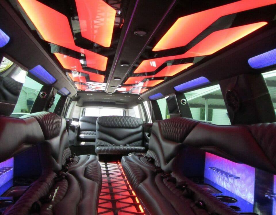 H2 Hummer Stretch limo Interior