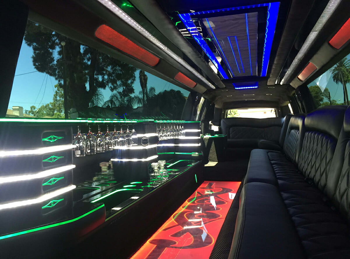 Suburbun stretch limo interior